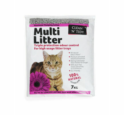 Sharples 'N' Grant Clean 'N' Tidy Multi Litter Maximum Clumping Cat Litter - 7kg