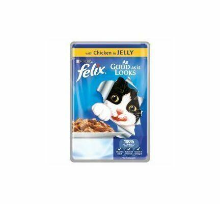 Felix As Good As It Looks Pouch Chicken in Jelly 20 x 100g