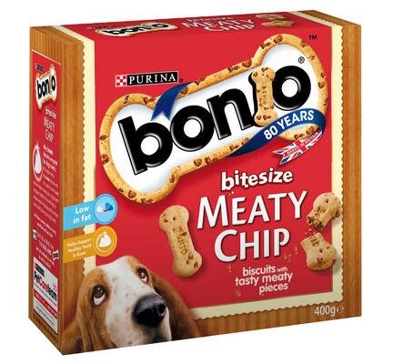 5 x Bonio Bitesize Meaty Chip 400g