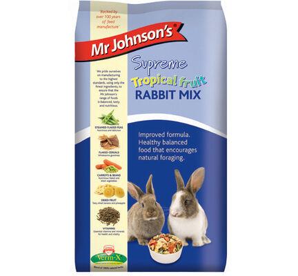 6 x Mr Johnson's Supreme Rabbit Tropical Fruit Mix 900g