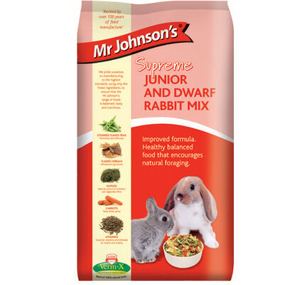 6 x Mr Johnson's Supreme Junior & Dwarf Rabbit Mix 900g