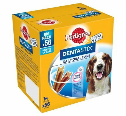 Pedigree Dentastix Daily Oral Care Medium Breed Dental Dog Treats (56 Sticks)