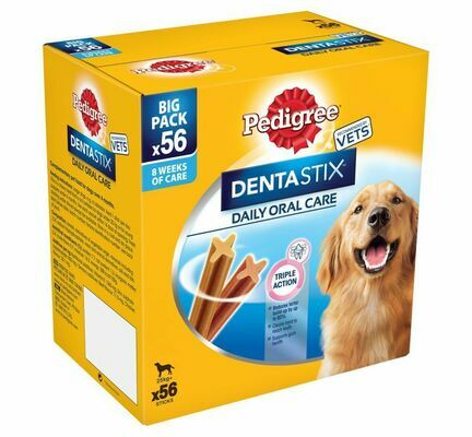Pedigree Dentastix Daily Large Breed Dental Dog Treats - 56 Sticks