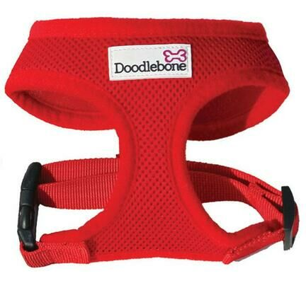 Red Doodlebone Air Mesh Dog Harness