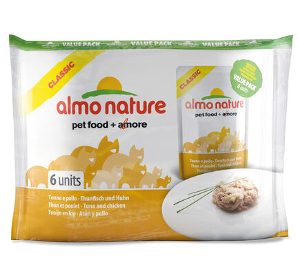 Almo Nature Classic Cat Pouch Value Pack Tuna & Chicken 6 X 55g