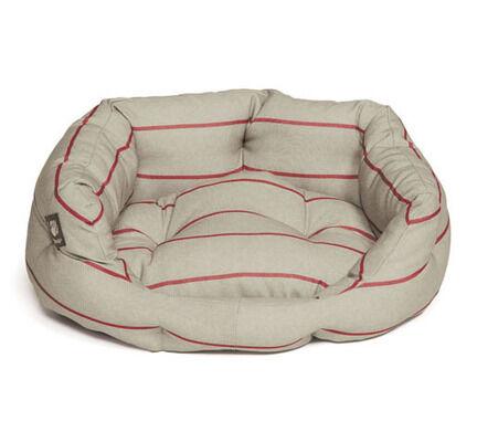 Danish Design Heritage Red & Cream Stripe Herringbone Deluxe Slumber Dog Bed