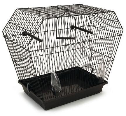 Pennine Tyolean Black Bird Cage With Sliding Tray 55x27x48cm