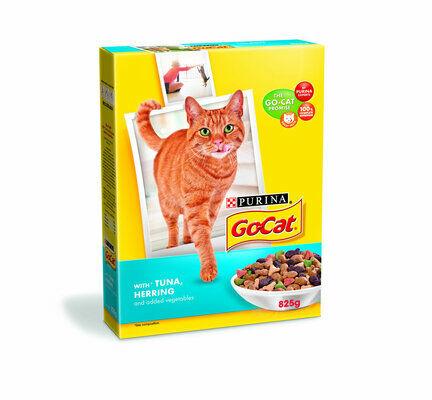 5 x Go-cat Complete Adult Tuna Herring & Veg 825g