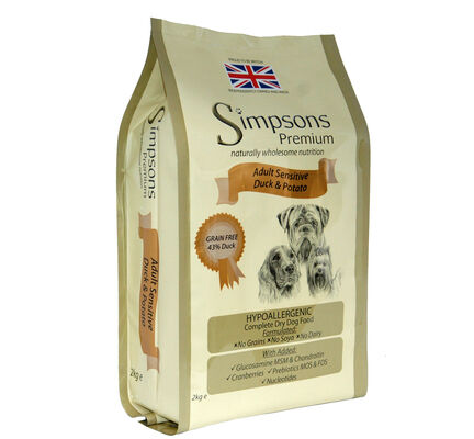 Simpsons Premium Adult Sensitive Duck & Potato Dry Dog Food