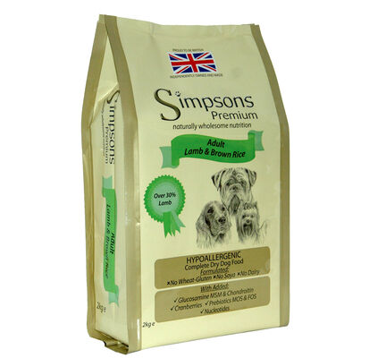Simpsons Premium Adult Lamb & Brown Rice Dry Dog Food