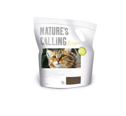 2 x 6kg Natures Calling 100% Biodegradable Cat Litter