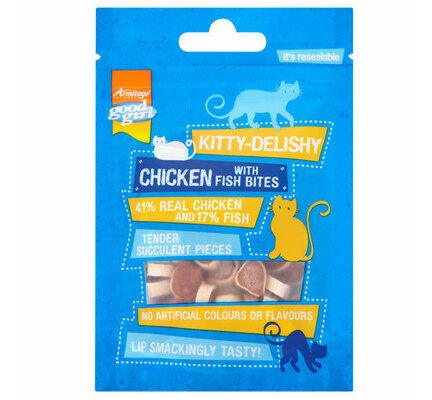 10 x Good Girl Kitty Delishy Chicken With Fish Bites