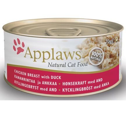 24 x Applaws Cat Can Chicken Breast With Duck 70g
