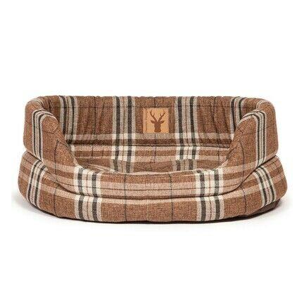 Danish Design Newton Brown Check Truffle Slumber Dog Bed