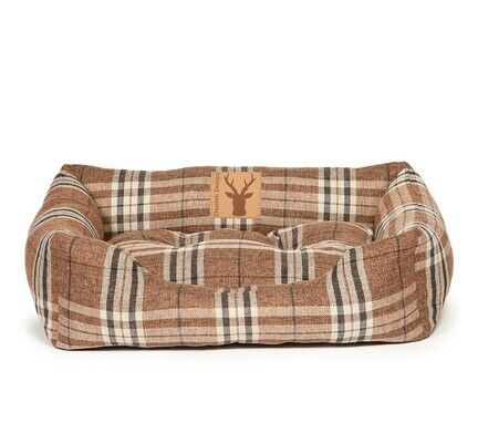 Danish Design Newton Brown Check Truffle Snuggle Dog Bed
