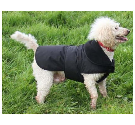 Cosipet Weather Resistant Waterproof Black fleece Dog Coat