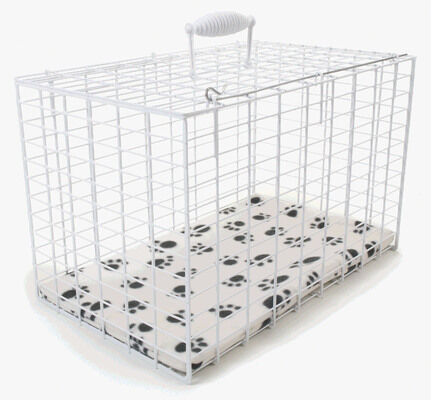 Pennine White Wire Dog Carrier Rectangular Pet Cage