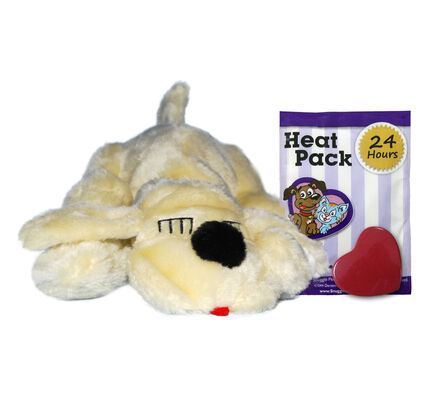 Golden Labrador Snuggle Puppy Calming Dog Toy with Real Heartbeat