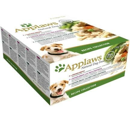 32 x Applaws 100% Natural Recipe Collection Variety Pack 156g