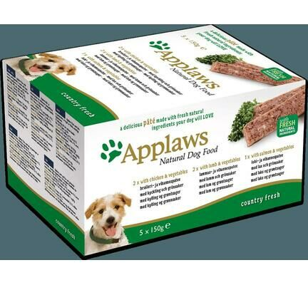 20 x Applaws Natural Dog Pate Country Fresh Multipack 150g