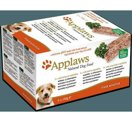 20 x Applaws Adult Dog Pate Fresh Selection Multipack Trays 150g