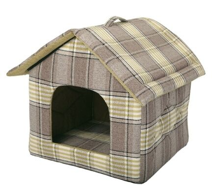 Animate Zip Up Dog House - Tweed Green 18