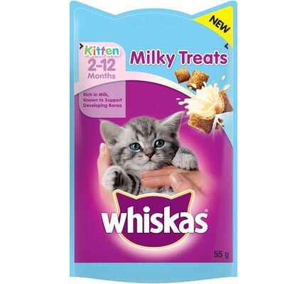 8 x Whiskas Kitten Milky Treats 55g