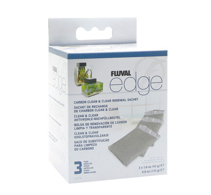 Fluval Edge Carbon Clean And Clear (3 X Sachets) 45g
