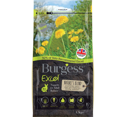 Burgess Excel Adult Rabbit Natures Blend 1.5kg