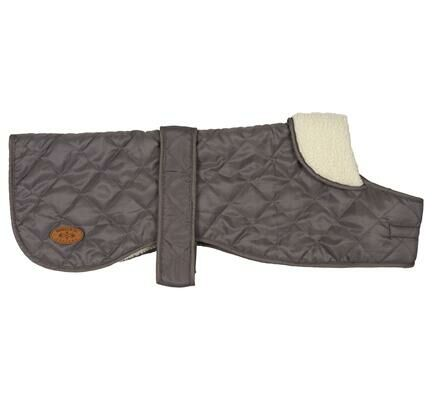 Banbury & Co All Weather Waterproof Comfort Padded Dog Coat in Grey
