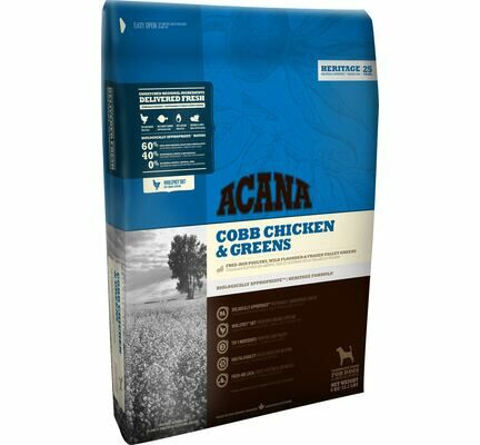Acana Heritage Cobb Chicken & Greens Dry Dog Food