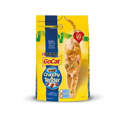Go-Cat Crunchy And Tender Salmon Tuna & Veg 3kg