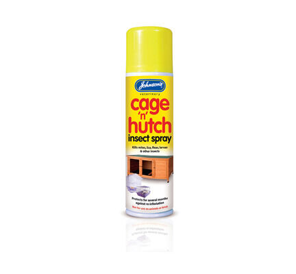 6 x Johnson's Cage 'n' Hutch Insect Spray 250ml