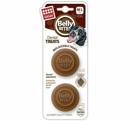 GiGwi Belly Bites Dental Treats Refill Medium/Large Size (2 Pack)