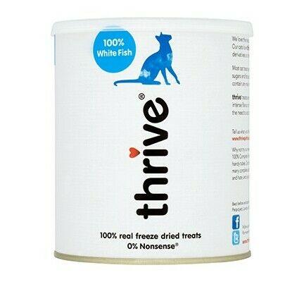 Thrive 100% White Fish Cat Treats 110g