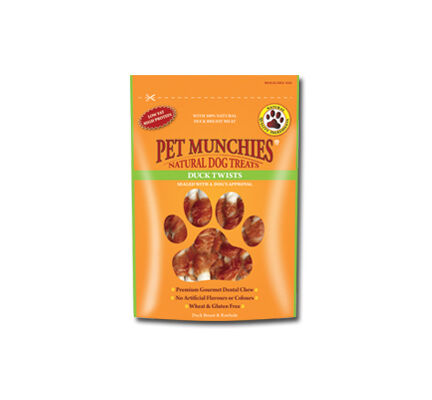 Pet Munchies Natural Dog Treat Duck Twists