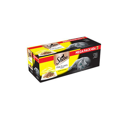Sheba Pouch Fine Flakes Poultry Collection In Jelly 40 x 85g