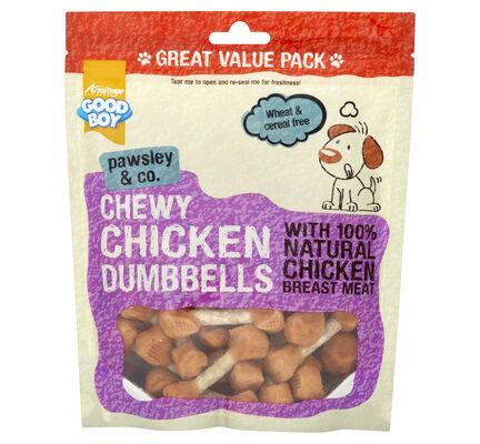 3 x 350g Good Boy Pawsley Chicken Dumbbells