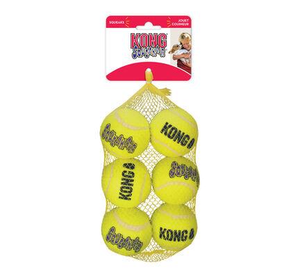 6 x Kong Air Squeaker Tennis Balls Medium