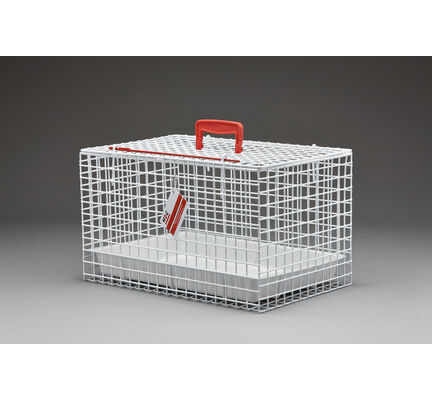 MDC White Wire Cat Carrier Basket with Tray