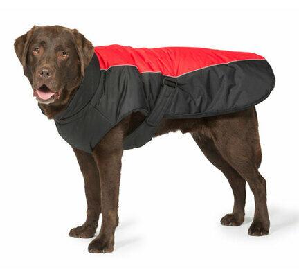 Danish Design Sports Luxe Waterproof Dog Coat in Red