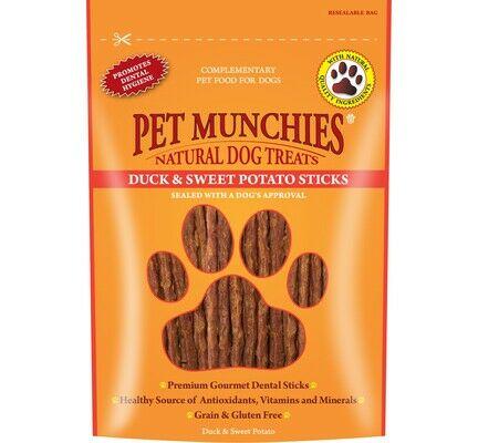 Pet Munchies Duck And Sweet Potato Dental Stick Natural Dog Treats