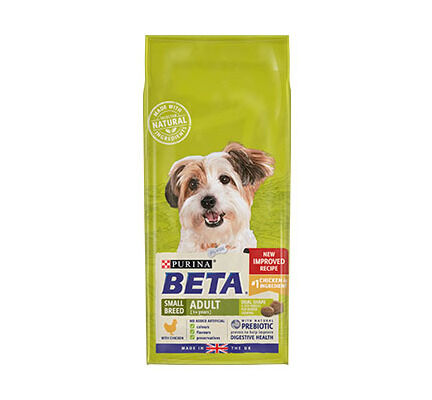 Beta Adult Small Breed Dry Dog Food With Chicken 2kg