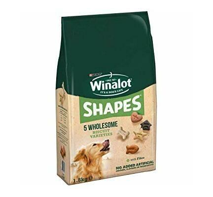 4 x Winalot Shapes Dog Biscuits 1.8kg