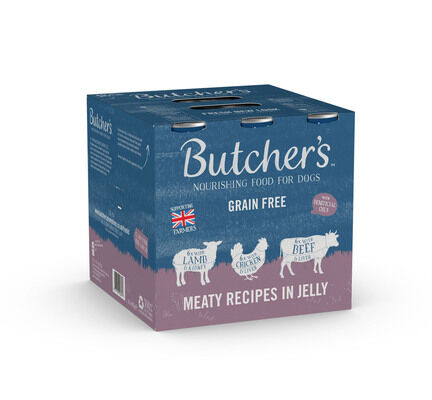 18 x Butcher's Can Dog Food - Meaty Recipes 400g