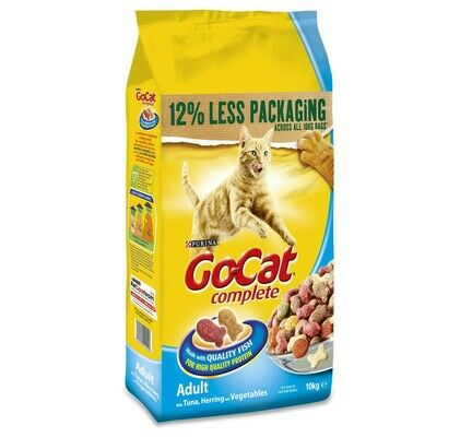Purina Go-Cat Complete Tuna, Herring And Veg Adult Cat Food