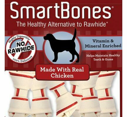 7 x Smartbones Chicken Mini Dog Treats in a Pack of 8