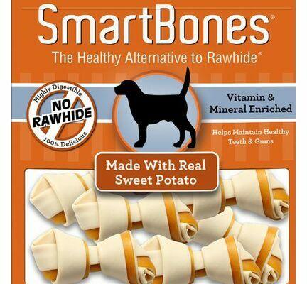 7 x Smartbones Sweet Potato Mini Dog Treats in a Pack of 8