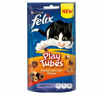 8 x Felix Play Tubes Chicken & Liver 50g