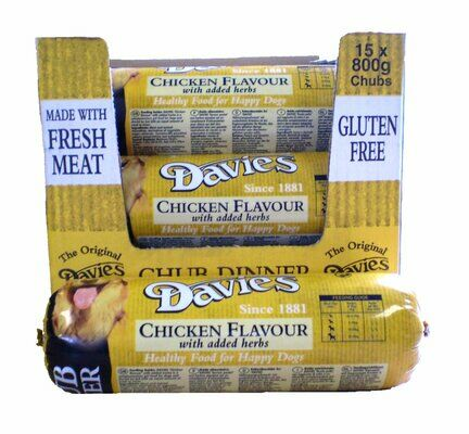 15 x Davies Chicken Chub 800g
